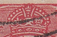 KGV SG 77 BW ACSC 89(23)t listed flaw 22R58 1½d red
