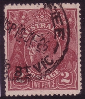 KGV SG 78 BW ACSC 97 1924 2d red-brown