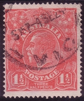 KGV SG 84 BW ACSC 90 1924 1½d red