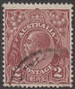 KGV SG 98 BW ACSC 99 1928 2d red-brown King George V Australia