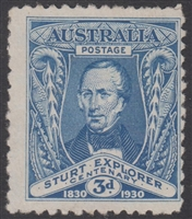 SG 118 1930 Centenary of Sturt Exploration 3d blue MNG