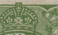 KGV SG 125 BW ACSC 82(3)q listed flaw VI/41 1d green