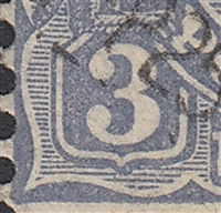 KGV SG 128 BW ACSC 109j listed flaw 8L11 3d blue