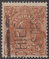 KGV SG 130 BW ACSC 127 1932 5d brown King George V head Australia