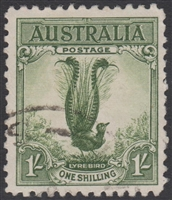 SG 140 Superb Lyrebird 1932 1/- Green