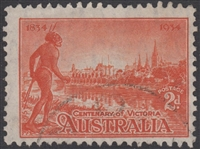 SG 147 Centenary of Victoria 1934 2d orange-vermillion Perf 10½