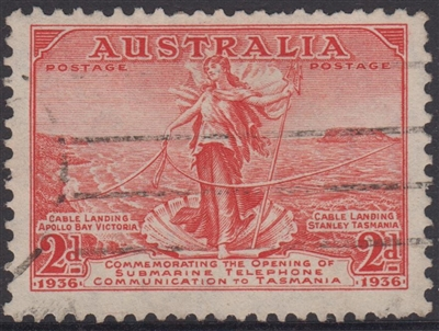 SG 159 Amphitrite and Submarine Telephone Cable 1936 2d scarlet