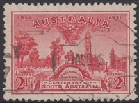 SG 161 1936 Centenary of South Australia 2d Carmine