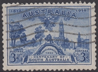 SG 162 1936 Centenary of South Australia 3d Blue