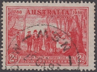 SG 193 1937 Sesquicentenary 150th Anniversary of Founding Of New South Wales 2d Scarlet 2