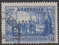 SG 194 Sesquicentenary 150th Anniversary of Founding of NSW 1937 3d Bright Blue