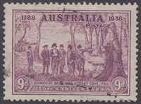SG 195 1937 Sesquicentenary 150th Anniversary of Founding Of New South Wales 9d purple