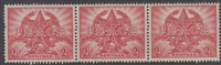 SG 213 1946 PEACE VICTORY COMMEMORATION 2½D RED MINT with ORIGINAL GUM joined strip of three