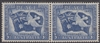 SG 214 1946 PEACE VICTORY COMMEMORATION 3½D BLUE with ORIGINAL GUM joined pair