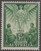 SG 215 1946 Peace Victory Commemoration 5½d Green MINT HINGED Original Gum