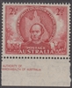 SG 216 Mint with gum 1946 Centenary of Mitchell's Exploration IMPRINT 2½d scarlet Australia