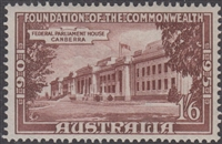 SG 244 1950 FOUNDATION OF THE COMMONWEALTH 1s6d purple-brown MINT with ORIGINAL GUM