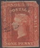 NSW SG 109 1856-1860 one penny diadem Orange-red