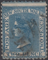 NSW SG 194 1863-1869 two pence