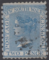 NSW SG 210ba MH 1871-1902 Two Pence Queen Victoria De La Rue New South Wales