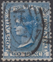 NSW SG 225g 1884 two pence