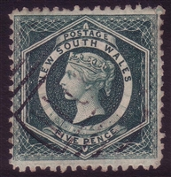 NSW SG 233b 1882-1897 five pence