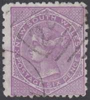 NSW SG 235 1882-1897 six pence