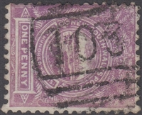 NSW numeral postmark 103 MANLY barred numeral on 1d View of Sydney New South Wales Australia