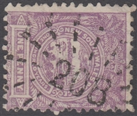 NSW numeral postmark 208 WAVERLEY rays numeral on 1d View of Sydney New South Wales Australia