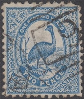 NSW numeral postmark 9 BATHURST barred numeral on 2d emu New South Wales Australia