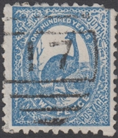 NSW numeral postmark 17 DUBBO barred numeral on 2d emu New South Wales Australia
