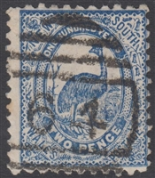 NSW numeral postmark 64 MAITLAND barred numeral on 2d emu New South Wales Australia