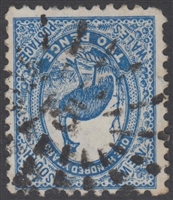 NSW numeral postmark 15 MOLONG rays numeral on 2d emu New South Wales Australia
