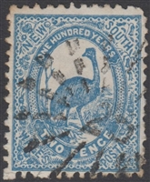 NSW numeral postmark 25 KIAMA rays numeral on 2d emu New South Wales Australia