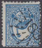 NSW numeral postmark 183 PADDINGTON rays numeral on 2d emu New South Wales Australia