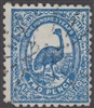 NSW numeral postmark 215 QUIRINDI rays numeral on 2d emu New South Wales Australia