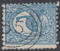 NSW numeral postmark 35 GOULBURN oval rings cancel on 2d emu New South Wales Australia