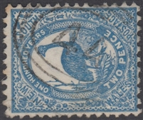 NSW numeral postmark 44 YASS oval rings cancel on 2d emu New South Wales Australia