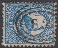 NSW numeral postmark 82 ARMIDALE oval rings cancel on 2d emu New South Wales Australia