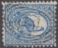 NSW numeral postmark 84 TENTERFIELD oval rings cancel on 2d emu New South Wales Australia