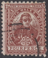 NSW SG 255 1888-1889 four pence