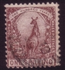 NSW SG 258cc 1888-1889 one shilling violet-brown
