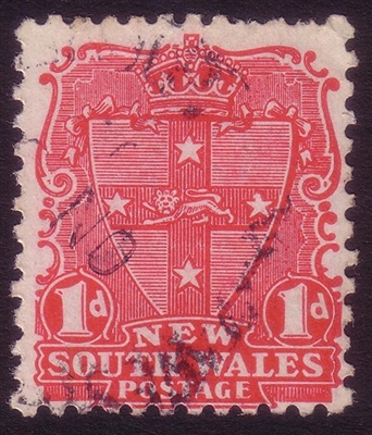 NSW SG 288-291 1897-1899 one penny