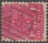 NSW numeral postmark 234 barred numeral WALLSEND BN cancel 1d shield New South Wales Australia