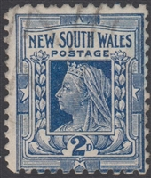 NSW SG 292 1897-99 two pence NSW Queen Victoria Diamond Jubilee