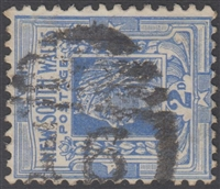 NSW numeral postmark 16 WELLINGTON barred numeral on 2d Queen Victoria New South Wales Australia