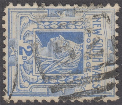 NSW numeral postmark 52 BOURKE barred numeral on 2d Queen Victoria New South Wales Australia