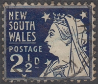 NSW SG 296a 1897-1899 two pence halfpenny Queen Victoria Diamond Jubilee