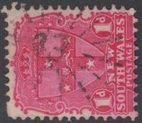 NSW numeral postmark 43 GUNNING rays numeral on 1d shield New South Wales Australia