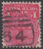 NSW numeral postmark 64 MAITLAND barred numeral on 1d shield New South Wales Australia